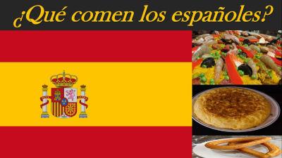 Qué comen los españoles, comida española, tortilla española, paella valenciana, paella españolar,madrid, españa, Spain flag, bandera española, tortilla española, jamon iberico,